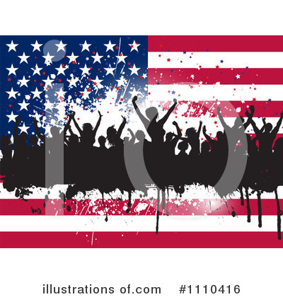 American Flag Clipart #1110416 by KJ Pargeter
