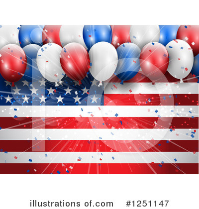 Party Balloons Clipart #1251147 by KJ Pargeter