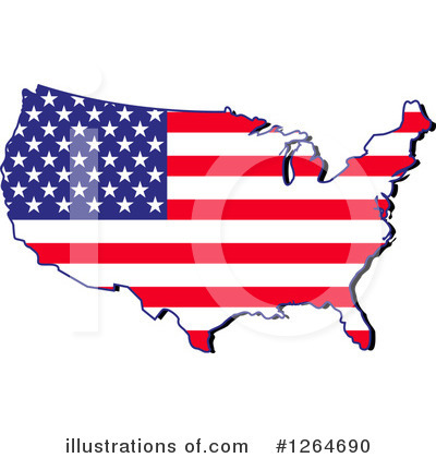 Usa Clipart #1264690 by Vector Tradition SM