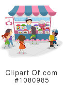 Royalty-Free (RF) Amusement Park Clipart Illustration #1080985