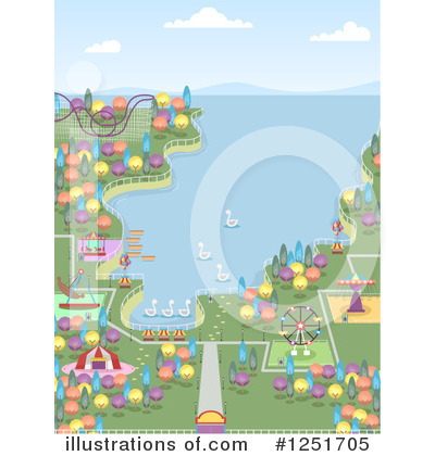 Amusement Park Clipart #1251705 by BNP Design Studio