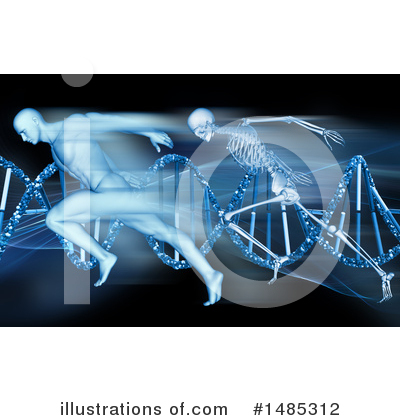 Dna Clipart #1485312 by KJ Pargeter