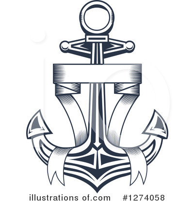 Royalty-Free (RF) Anchor Clipart Illustration by Vector Tradition SM - Stock Sample #1274058