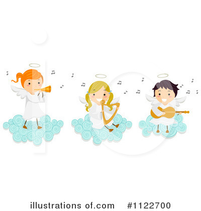 Royalty-Free (RF) Angel Clipart Illustration by BNP Design Studio - Stock Sample #1122700