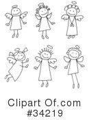 Royalty-Free (RF) Angel Clipart Illustration #34219