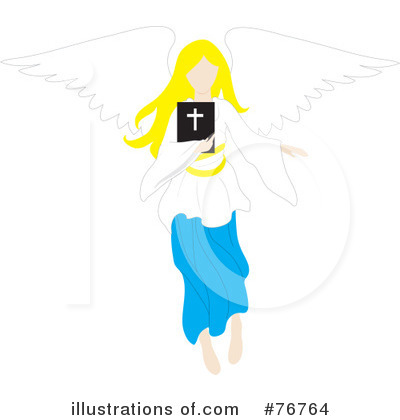 Royalty-Free (RF) Angel Clipart Illustration by Rosie Piter - Stock Sample #76764