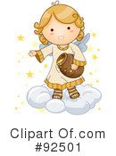 Royalty-Free (RF) Angel Clipart Illustration #92501