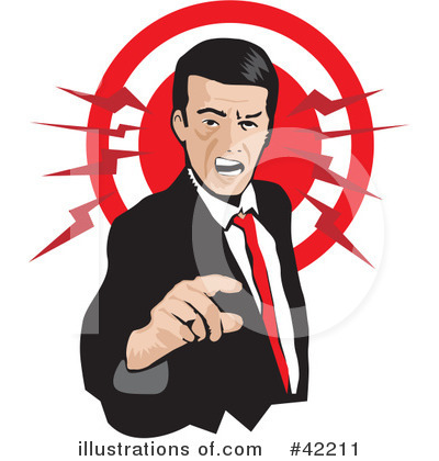 Royalty-Free (RF) Anger Clipart Illustration by David Rey - Stock Sample #42211