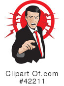 Royalty-Free (RF) Anger Clipart Illustration #42211