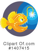 Royalty-Free (RF) Anglerfish Clipart Illustration #1407415