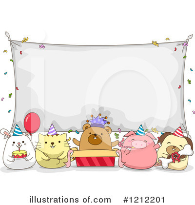 Party Animals Clipart #1212201 by BNP Design Studio