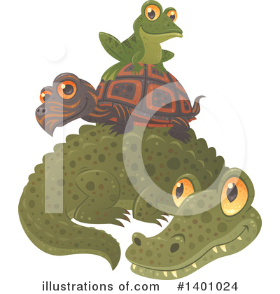 Alligator Clipart #1401024 by John Schwegel
