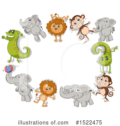 Zoo Animals Clipart #1522475 by Graphics RF