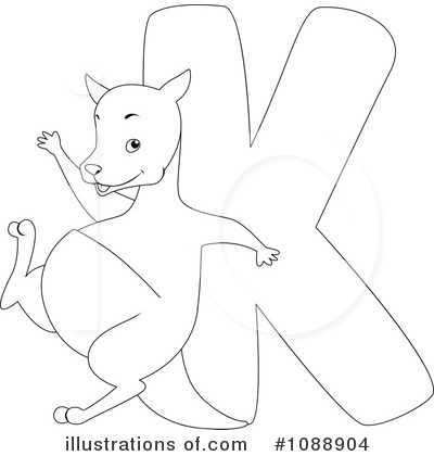Kangaroo Clipart #1088904 by BNP Design Studio