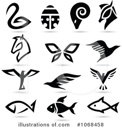 Animal Logos Clipart #1068458 by cidepix