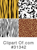 Animal Print Clipart #31342 by KJ Pargeter