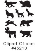Animal Silhouettes Clipart #45213 by JR
