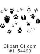 Animal Tracks Clipart #1154499 by Vector Tradition SM