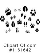 Animal Tracks Clipart #1161642 by Vector Tradition SM