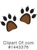 Animal Tracks Clipart #1443376 by ColorMagic
