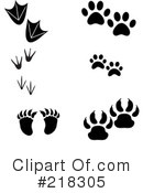 Animal Tracks Clipart #218305 by Pams Clipart