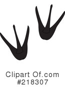 Animal Tracks Clipart #218307