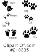 Animal Tracks Clipart #218335