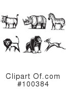 Royalty-Free (RF) animals Clipart Illustration #100384