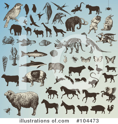 Royalty-Free (RF) Animals Clipart Illustration by Anja Kaiser - Stock Sample #104473