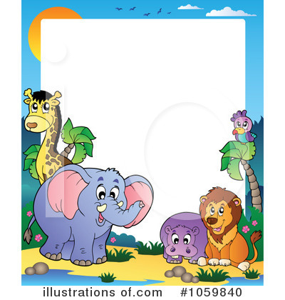 Royalty-Free (RF) Animals Clipart Illustration by visekart - Stock Sample #1059840
