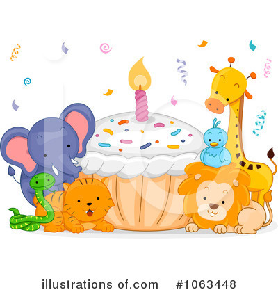Party Animals Clipart #1063448 by BNP Design Studio