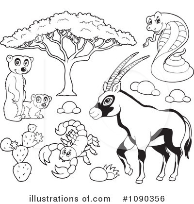 Royalty-Free (RF) Animals Clipart Illustration by visekart - Stock Sample #1090356