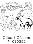 Royalty-Free (RF) Animals Clipart Illustration #1090356