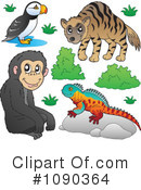Royalty-Free (RF) Animals Clipart Illustration #1090364