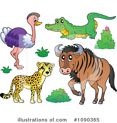 Wildebeest Clipart #1090365 by visekart