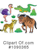 Royalty-Free (RF) Animals Clipart Illustration #1090365