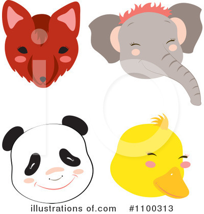 Elephant Clipart #1100313 by Cherie Reve