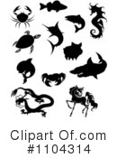 Royalty-Free (RF) Animals Clipart Illustration #1104314