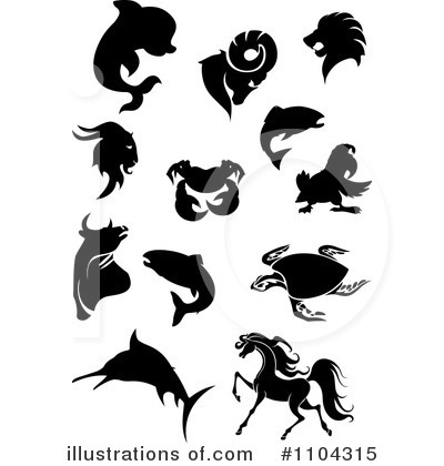 Dolphin Clipart #1104315 by Vector Tradition SM