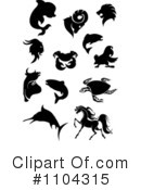 Royalty-Free (RF) Animals Clipart Illustration #1104315