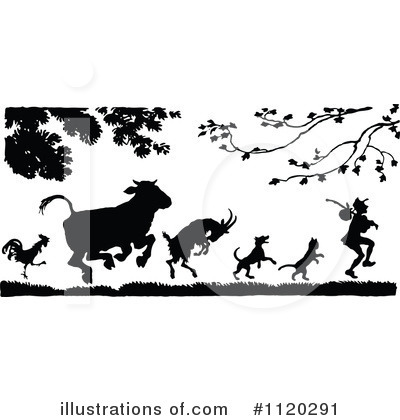 Royalty-Free (RF) Animals Clipart Illustration by Prawny Vintage - Stock Sample #1120291