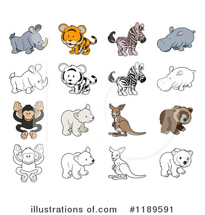 Rhino Clipart #1189591 by AtStockIllustration