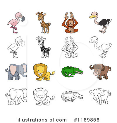 Water Buffalo Clipart #1189856 by AtStockIllustration