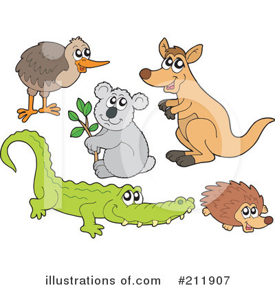 Royalty-Free (RF) Animals Clipart Illustration by visekart - Stock Sample #211907