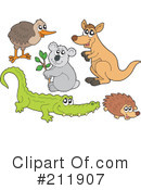Royalty-Free (RF) animals Clipart Illustration #211907