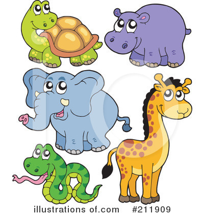 Royalty-Free (RF) Animals Clipart Illustration by visekart - Stock Sample #211909