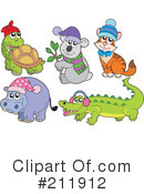 Royalty-Free (RF) animals Clipart Illustration #211912