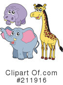 Royalty-Free (RF) animals Clipart Illustration #211916