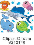 Royalty-Free (RF) Animals Clipart Illustration #212146