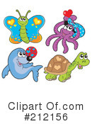 Royalty-Free (RF) Animals Clipart Illustration #212156